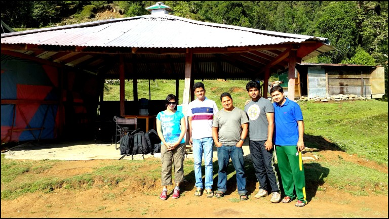 Posing with Mr. Manoj Negi at Alpine Adventure Camp, Chopta