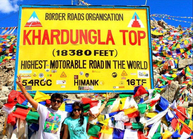 KhardungLa Paas - World's Highest Motorable Road